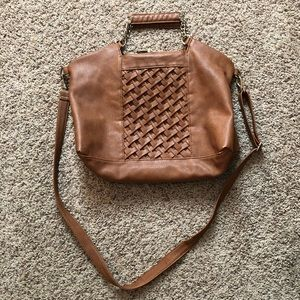 Big Buddha Cognac Brown Crossbody Bag